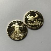 100 шт Немагнитная Свобода 20112 монет статуи красоты орел знак позолоченной 32,6 мм Либерти перевозку груз падение приемлемого украшение монеты