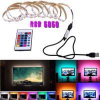 USB 기분 라이트 RGB 멀티 컬러 LED 스트립 빛 TV 백라이트 원격 Contral