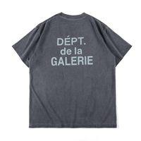 2020 Tide Marka Avrupa ve Amerika Mens Tasarımcısı Tişörtlü Vintage Rönesans Galeriler Yıkanmış Gevşek Casual Kısa kollu Basit Harf Ins