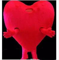 2018 VENDITA CALDA Pure Love Red Heart Mascot Costume adulto dimensioni Romantico San Valentino Festa di compleanno Carnevale Mascotte Outfit Suit