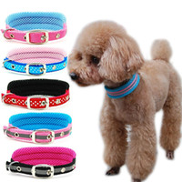 Dog Collar Pet Adjustable Mesh Collar Dog Cat Breathable Pad...