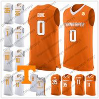 NCAA Tennessee Voluntários # 10 John Fulkerson 23 Bowden 11 Kyle Alexander 35 Yves Pons Laranja 2019 Branco Retro Vols College Basketball Jérsei