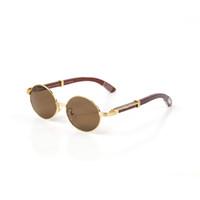 Okulary mody Okulary dla mężczyzn i kobiet Luksusowe Pełna Rama Złoto Biała Kawałek Mahogany Noga 8101012 Okuł Rama Charms Moda