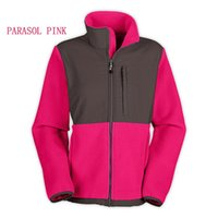 Winter-Herbst-Frauen-Marke Fleece Pullover Jacken Fashion Outdoor Damen Herren Kinder Softshell Ski Down-Face Jacken Frauen Jacke Rosa
