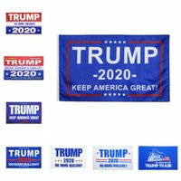 Trump 2020 Banner Bandiere 90 * 150cm Donald Trump Conservare rendere l'America Grande Flag 8 Stili Trump Train Party banner 60pcs Bandiere CCA12298