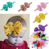 16colors baby chiffon headbands for girls fashion hair bows ...
