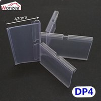100pcs lot Clear PVC Plastic Price Tag Sign Label Display Ho...