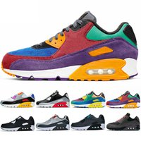 Nike Air Max 90 Hombres Mujeres Zapatos para correr Be True Viotech Betrue Mixtape Negro Infrared Blanco Gris Cheap Fashion Mens Trainer Sport Sneaker Size 5.5-11