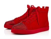 bottom top Uomini di qualità Red sneakers in pelle di mucca stile PIK PIK a mano rivetto punk di alta qualità perfetta Godetevi dimensioni 35-46 scarpe casual