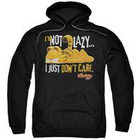Garfield Nao preguiçoso Adulto Pull-Over Hoodie hoodies coat streetwear ginásio basculador inverno verão Moletons