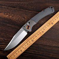 Benchmade caliente Sistema de eje de la herramienta Cuchillo 10580 cuchillo plegable de acero 9cr18mov Equipo de supervivencia al aire libre la supervivencia que acampa plegable EDC Pequeño