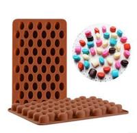 Nouvelle arrivée de haute qualité en silicone 55 Beans Mini Cavity Café Chocolat Sucre Candi Moule Moule gâteau Décor