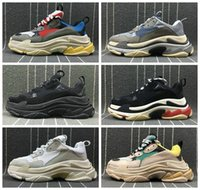Chaussures 2019 New Fashion Paris Triple-s Dad Designer Shoes Platform Sneakers Triple S Hombres Mujeres Tripler Casual Zapatillas de deporte Zapatos