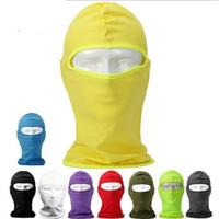 Motorrad Radfahren Sport Ganz Gesichtsmaske für Sun UV-Schutz Schwarz Radmasken Radfahren Schutzzahnrad