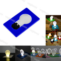 Yenilik aydınlatma kartı ışık cep lambası led el feneri çakmaklar mini cüzdan cüzdan acil durum taşınabilir açık epacket koymak