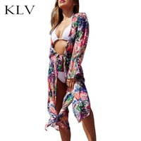 Women Summer Long Sleeves Chiffon Open Front Kimono Cardigan...