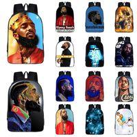 Nipsey hussle rapper estudante mochila 14 estilos mochila multi-função mochila de alta capacidade crianças saco de ombro saco de escola jy618