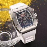Venta CALIENTE hombre reloj deporte reloj de pulsera superior venta hombre relojes mecánico reloj de pulsera correa de caucho 029