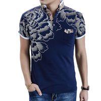 Men Polo Fashion Flower Stampa Polo Homme Slim Fit manica corta Camicia Polo uomo estate supera i T Designer