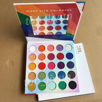 Os mais recentes 25L Paleta de Sombra Maquiagem Sombra fazem a vida colorida 25 cores Matte Shimmer nus sombra para os olhos Paletas beleza Cosméticos