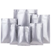 6x8cm 20silk alluminio Chiusura Pure Tasche Packaging fondo piatto lamina di alluminio bustina di tè alimentari Bag Opaco