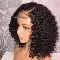 Neue Produktexplosion vor der spitzenperücke europäischen und amerikanischen Damen kurze lockige Haarscheiben-Faserhaube Hersteller, die kinky curly spot