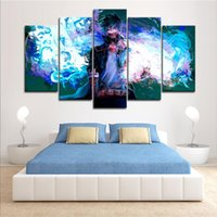 5 PZ Incorniciato Arte Della Parete My Hero Academia Manga Anime Movie Wall Art Immagini per Camera Da Letto Decor DragonBall Poster e Stampe Su Tela Pittura
