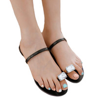 372a38d4e Wholesale toes ring sandals online - COVOYYAR Rhinestone Toe Ring Summer  Flat Sandals Women Hot Fashion