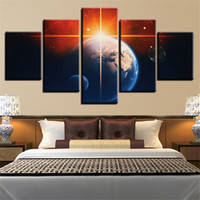 5 Panels Large Size Shocking Beauty of The Universe Framed A...