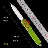 자동 칼 CNC 공정 전술 T6061 항공 알루미늄 이중 싱글 생존 나이프 자동 야외 캠핑 난이프 접이식 포켓 도구 요리사 MT UTX 마이크로