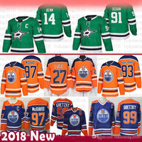 Dallas Stars Männer Jamie Benn 91 Tyler Seguin Jersey Edmonton Oilers 97 Connor McDavid 93 Ryan Nugent-Hopkins 27 Milan Lucic 99 Wayne Gretzky