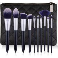 Новый набор кистей для макияжа 10шт высокого качества профессиональных кисти макияжа основа пудры для бровей тень для века макияжа кисти комплекта набор инструментов.
