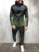 Mens Fashion Spring Hiphop Chándales Diseñador Cardigan Hoodies Pantalones 2pcs Conjuntos de ropa Pantalones Trajes Diseñador Ropa masculina