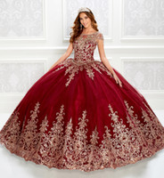 2020 Luxury Red Ball Gown Quinceanera Dresses Beaded Bodice ...