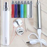 UGO-T Vape Pen preriscaldamento Batteria 1100mAh vaporizzatore Batterie ricaricabili inferiore carica con Micro USB Cable 510 Cartridge Atomizer