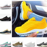 Nike Air Max 97 97s Mens Womens  Running Shoes Balck Metallic Gold South Beach PRM Yellow Triple White 97s DesignerSports Sneakers US 5.5-11