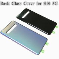 SAMSUNG Galaxy S10 5G sürümü VS G977 G977F G977B Pil Geri Cam Kapak Arka Kapı Konut Case Değiştirme için 10 Ad Orjinal arka plaka