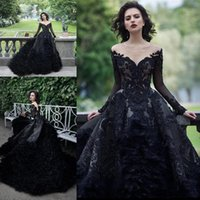 Lüks Sparkly Boncuklu Payetli Balo Gelinlik Vintage Siyah Quinceanera Elbiseler ile Tüyler Uzun Örgün Parti Gelinlikleri