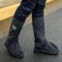 Unisex de lluvia zapatos de la cubierta impermeable al aire libre del zapato Montar a prueba de lluvia motocicleta de la bicicleta cubierta acolchada Moto Botas Cubiertas reutilizables DBC DH0858