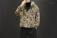 Drucken Herren Designer Jacken Mode Warm Panelled Mens Zipper mit Kapuze Jacken beiläufige Taschen-Männer Kleidung Leopard