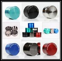 Sıcak Satış Metal Zamak Bitkisel Öğütücü Çok Renkler Öğütücüler 40mm 50mm 55mm 63mm 75mm 4 parça Herb Tütün Öğütücü 5915C / S-5918C / S