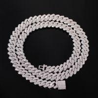 13mm ausgefrorene kubanische Halskettenkette Herren Hip Hop Halskette für Männer 18 Zinklig Gold Silber