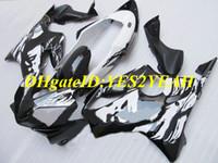 Kit de carenado de motocicleta para Honda CBR600F4I 04 05 06 07 CBR600 F4I 2004 2007 Cara de la belleza Conjunto de carenados negro blanco + Regalos HY77