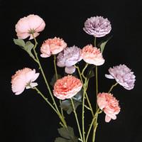 10pcs Simulação Lotus Macarons 3 Chefe Lulian flor de seda artificial Decoração Wedding Segurar Flores parede falsa Flowers Wreath