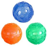 Tpr دغة الكرة لعبة الكلب مضغ الصوت اللعب جرو القطط مضحك كرات مطاطية التفاعلية الكلب الأسنان تنظيف اللعب