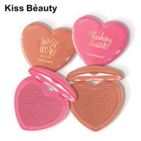 Мода Поцелуй красоты Blush Powder Makeup 8 цветов Румяна пудра Palette Лучший макияж Любовь Подарок Sweet Heart Blusher Face Beauty