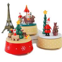 Kerstboom decoraties creatieve muzikale carrousel paard houten muziek doos speelgoed kind home decor kerst bruiloft verjaardagscadeau voor kinderen