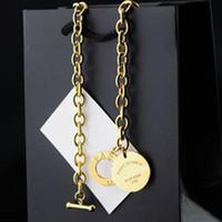 superiori di marca di titanio del paia di New York collana, argento in oro rosa a catena 3 colori per le donne all'ingrosso