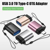 Samsung / Android / iPhone / MacBook için Kadın Veri Senkronizasyon Kablosu Erkek Şarj Tip C için USB 3.0 Dönüştürücü OTG Adaptör