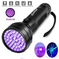 UV LED lampe de poche 51 LEDs 395nm Ultra violet lampe de la lampe de la lampe de la lampe de la lampe de la lampe de lumière pour chiens Stains et bugs de lit urine